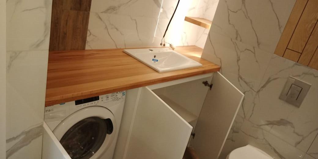 Столешница для ванной из бука.